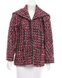Chanel - Metallic -accented Bouclé Jacket Black - Lyst