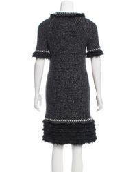 Chanel - Gray Fantasy Fur Cashmere Dress Black - Lyst