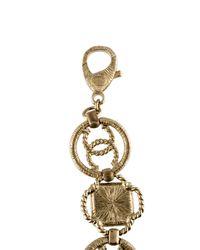 Chanel - Metallic Chain Fringe Choker - Lyst