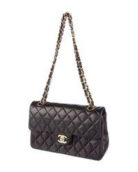 Chanel - Metallic Classic Small Double Flap Bag Black - Lyst