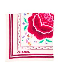Chanel | Natural Floral Cc Bandana Beige | Lyst