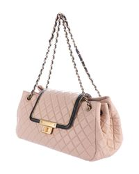 Chanel - Metallic E/w Lambskin Accordion Flap Bag Beige - Lyst