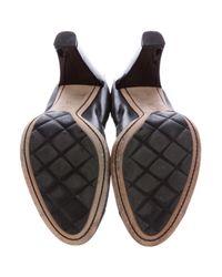 Chanel - Black Stretch Spirit Leather Pumps - Lyst