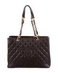 Chanel | Metallic Caviar Grand Shopping Tote Brown | Lyst