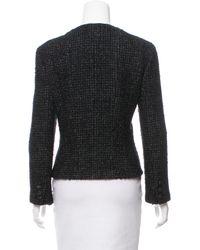 Chanel - Black Silk Tweed Jacket - Lyst