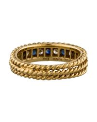 Dior | Metallic Diamond & Sapphire Band Yellow | Lyst
