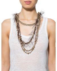 Dior - Metallic Multistrand Textured Necklace Gold - Lyst