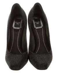 Dior | Black Embellished Square-toe Pumps | Lyst
