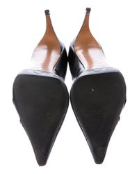 Dior - Metallic Leather Pointed-toe Pumps Black - Lyst