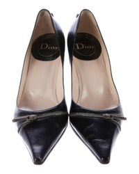Dior | Metallic Leather Pointed-toe Pumps Black | Lyst