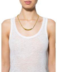 Dior - Metallic Vintage Collar Necklace Gold - Lyst