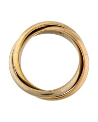 Cartier - Metallic Trinity De Rolling Ring Rose - Lyst