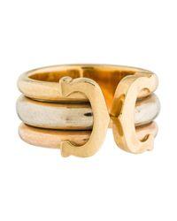 Cartier - Metallic C De Ring Rose - Lyst