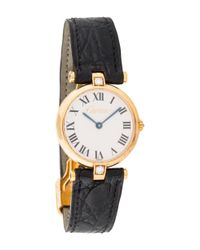 Cartier - Metallic Ronde Watch Yellow - Lyst