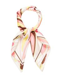 Emilio Pucci | Yellow Silk Printed Scarf Pink | Lyst