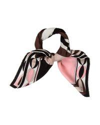 Emilio Pucci | Pink Silk Printed Scarf | Lyst