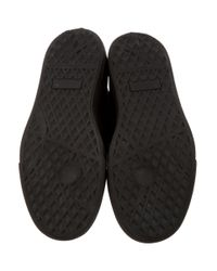 Giuseppe Zanotti - Metallic Leather High-top Sneakers Black - Lyst