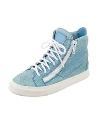 Giuseppe Zanotti | Blue High-top Sneakers | Lyst