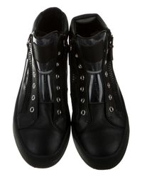 Giuseppe Zanotti - Black High-top Leather Sneakers - Lyst