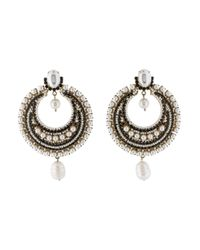 Givenchy - Metallic Faux Pearl & Crystal Chandelier Clip On Earrings Gold - Lyst
