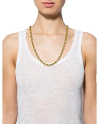 Givenchy - Metallic Chain Necklace Gold - Lyst