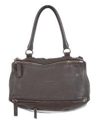 Givenchy - Metallic Medium Pandora Bag Grey - Lyst