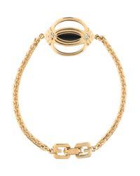 Givenchy - Metallic Vintage Crystal & Enamel Charm Bracelet Gold - Lyst
