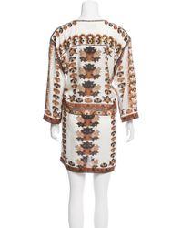 Isabel Marant - Printed Mini Dress Multicolor - Lyst