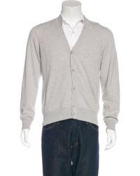 Loro Piana - Gray Roadster Light Cashmere Cardigan Grey for Men - Lyst