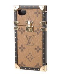 Louis Vuitton - Eye Trunk Iphone 7 Case Brown - Lyst