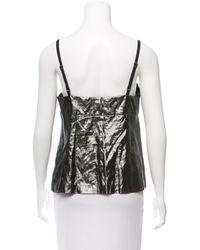 Louis Vuitton - Gray Sleeveless Metallic Top Pewter - Lyst
