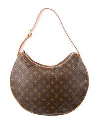 Louis Vuitton - Natural Monogram Croissant Gm Brown - Lyst