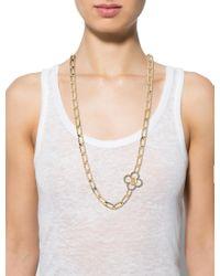 Louis Vuitton - Metallic Flower Power Chain Necklace Gold - Lyst