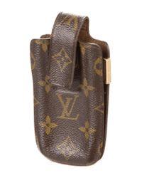 Louis Vuitton - Natural Monogram Phone Case Brown - Lyst