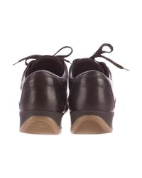 Louis Vuitton - Brown Leather Low-top Sneakers - Lyst
