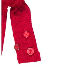 Louis Vuitton - Natural Constance Wool Scarf Red - Lyst