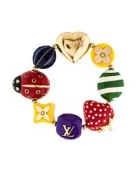 Louis Vuitton - Metallic Fraise Strawberry Ladybug Charm Bracelet Gold - Lyst