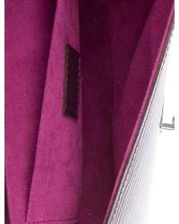 Louis Vuitton - Metallic Epi Pochette Montaigne Silver - Lyst