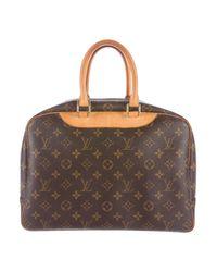 Louis Vuitton - Natural Monogram Deauville Bag Brown - Lyst