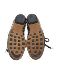 Louis Vuitton | Black Monogram Leather Sneakers | Lyst