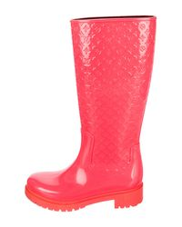 Louis Vuitton - Pink Monogram High Splash Rain Boots Fuchsia - Lyst