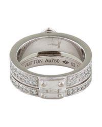 Louis Vuitton - Metallic Lockit Ring White - Lyst