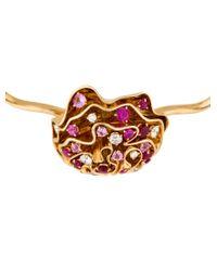 Louis Vuitton - Metallic 18k Ruby, Sapphire & Diamond Louisette Necklace Yellow - Lyst
