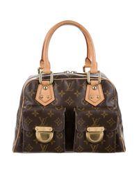 Louis Vuitton - Monogram Manhattan Pm Brown - Lyst