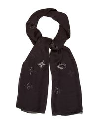Louis Vuitton - Black Monogram Glitter Stole - Lyst