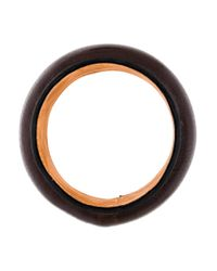 Loewe - Brown Wide Leather Bangle - Lyst