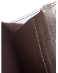 Loewe - Brown Suede Compact Wallet - Lyst