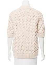 Marc Jacobs | Pink Speckled Cable Knit Sweater | Lyst