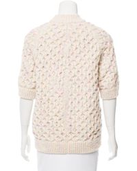 Marc Jacobs - Pink Speckled Cable Knit Sweater - Lyst
