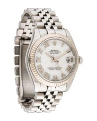 Rolex | Metallic Datejust Watch White | Lyst
